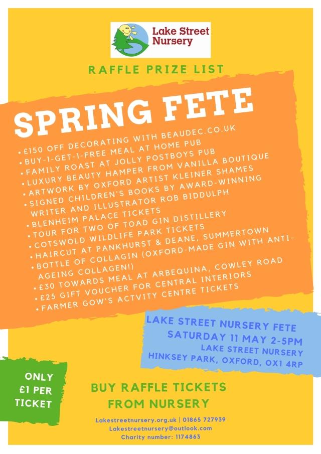 Raffle prize list spring fete V6